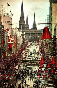 Christmas in Melbourne, 1969.