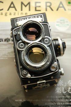 Rolleiflex 2.8F TLR (Twin Lens Reflex) Classic medium format analogue vintage camera.