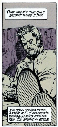 john constantine as himself, from hellblazer 46