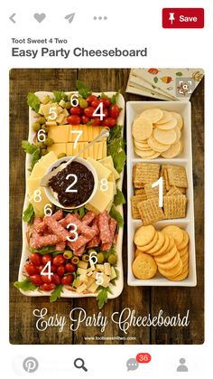cheese and crackers pin by almadin on veggie trays 30350