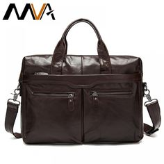 MVA Leather men's Briefcase men laptop male messenger bag Men's Genuine leather shoulder bags briefcases for documents bag 9005 Laptop Shoulder Bag, Crossbody Shoulder Bag, Shoulder Handbags, Leather Shoulder Bag, Shoulder Bags, Shoulder Straps, Leather Laptop Bag, Leather Briefcase, Leather Crossbody Bag