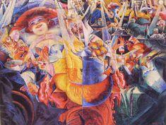 Umberto Boccioni, La risata, 1913,Museum of Modern Art,  New York.