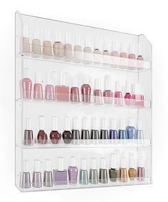 Look at this 40-Bottle Nail Polish Wall Rack on #zulily today!