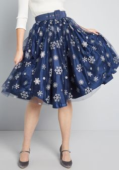 ad05517f53e4 There's no denying the elegance you exude while twirling about in this navy blue  skirt -