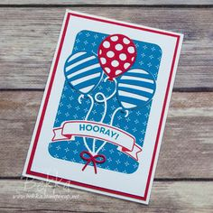 Stampin' Up! UK Feeling Crafty - Bekka Prideaux Stampin' Up! UK Independent Demonstrator: Balloon Adventure Celebration Card for my Stampin' Super Stars Group