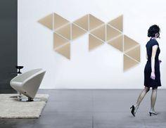 Panneau décoratif mural / en tissu / 3D / acoustique TRIANGLE Agoraphil