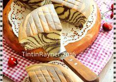Ogura Cake Zebra with Coconut Milk