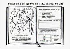 El Rincón de las Melli: Dios Padre Lucas 11, Sunday School Games, Religion Catolica, Prodigal Son, Bible Activities, Bible Crafts, Homeschool, Spirituality, Teaching