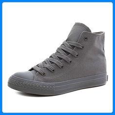 new styles d962f cb126 Klassische Unisex Damen Herren Schuhe Low High Top Sneaker Turnschuhe Grau  41 - .