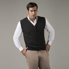 Links Men's Alpaca Button Vest