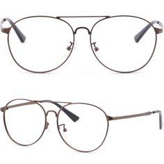 Mens Womens Metal Frame Brown Retro '70s Look Prescription Glasses RX Sunglasses #Unbranded