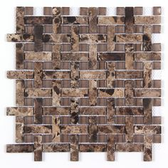 All Marble Mosaic Glass Strip and Stone Dot Basketweave Mosaic MAG-4803-BW from http://AllMarbleTiles.com