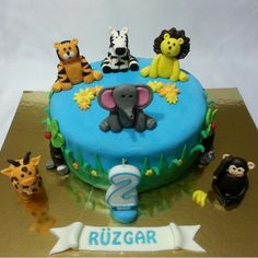 #happy #sweet #smile #jungleanimals #animals #cake #pasta #tiger #lion #elephant #monkey #zebra #yummy  #flavor #candy