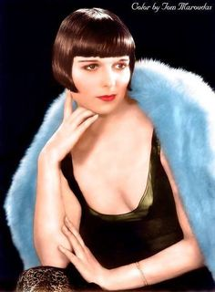 Louise Brooks by Tom Maroudas Louise Brooks, Vintage Hollywood, Classic Hollywood, In Hollywood, Kansas, Silent Film Stars, Movie Stars, Classic Actresses, Actors & Actresses