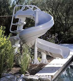 Shop swimming pool slides for inground pools - featuring slides from SR Smith. Installing a slide can add fun and excitement for kids of all ages. Swimming Pool Slides, Pool Water Slide, Luxury Swimming Pools, Luxury Pools, My Pool, Water Slides, Pool Fun, Dream Pools, Baby Swimming