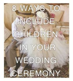 Many couples are wanting to get their kids orfamilieskidsinvolved their special day, especially those having second weddings and are bringing together kids from another family. Here are 8 ways to include your special little people in your wedding ceremony. 1. Ring Bearer- A lovely traditional job for a young boy and one that always makes the bearer feel very special.Continue Reading
