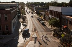 """""""U.S. 62, which is Main Street in Hamburg, N.Y., was rebuilt to slow traffic and aid pedestrians. The changes have inspired business investment and civic activity.""""  http://www.nytimes.com/2013/08/17/nyregion/widen-main-st-community-had-other-ideas-and-thrived.html?pagewanted=all&_r=0  Widen Main St.? Community Had Other Ideas, and Thrived - NYTimes.com"""