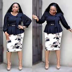 Rock your fashion world with our new arrivals of Turkey wears,making you look unique and fabulous is our priority. Classy Work Outfits, Classy Dress, Chic Outfits, Office Dresses For Women, Office Outfits Women, African Wear Dresses, African Attire, South African Traditional Dresses, Mature Fashion