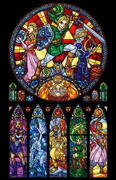 ocarina_of_time__the_seven_sages_stained_glass_by_nenuiel-d8oragp.jpg (1024×1583)