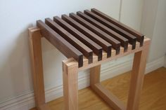 Walnut and Beech Hallway Stool