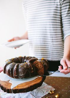 Gingerbread bundt cake #HolidayCollection.