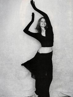 veruschka by peter lindbergh for vogue italia december 1988.