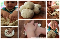 Natural Play Dough Recipe - safe for toddlers.