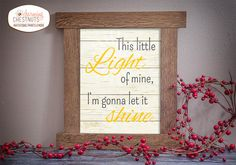 This little light of mine, Printable wall art decor, Nursery decor poster - Instant Download