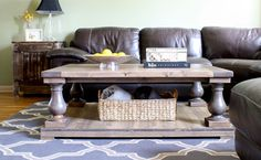 Balustrade Farmhouse Coffee Table by TheWoodMarket on Etsy