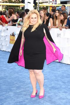 "Rebel Wilson, Obvious Superhero, Chose This Dress For Its ""Girl Powers"" #refinery29 http://www.refinery29.com/2015/04/85495/rebel-wilson-dress-mtv-movie-awards"