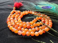 Natural Red Aventurine Necklace 8MM 108 Beads by beadsincredible, $24.95