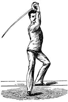 Parry in Septine - Masaniello Parise from Trattato Teorico-pratico della Spada di Scherma e Sciabola, 1884