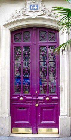 New purple front door colors entryway 52 ideas Purple Front Doors, Purple Door, Front Door Colors, Cool Doors, Unique Doors, Traditional Front Doors, Porte Cochere, When One Door Closes, Front Door Design