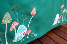 subtle embroidery and applique  www.OneLittleImp.blogspot.com