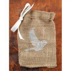 Burlap Favor Bags - Bird Favor Bags