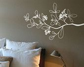 Arezzo - Branch wall decal - white