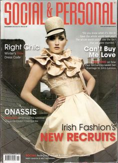 2010 Social & Personal Griffith College Fashion Design Editorial Irish Fashions' New Recruits Griffith College, Irish Fashion, Save Her, College Fashion, Paul Mccartney, John Lennon, Winter Dresses, What Is Like, The Struts