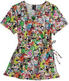 b9e51143587 Scrubs - Koi 100% Cotton Tokidoki Kathryn Scrub Top Koi Scrubs, Quirky  Fashion,
