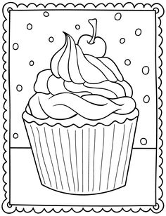 Lovely Coloring Pages Of Cupcakes