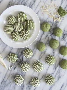 Matcha Green Tea Sugar Cookies. Not only does this look delicious, but the recipe looks pretty easy and straight forward.
