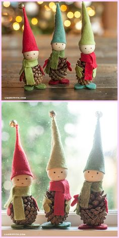 DIY Pinecone Fairy Tutorials Best Picture For Diy Felt Ornaments no sew For Your Taste You are looki Handmade Christmas Decorations, Christmas Ornament Crafts, Christmas Fairy, Christmas Projects, Holiday Crafts, Natural Christmas, Pinecone Ornaments, Garden Ornaments, Felt Ornaments