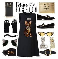 """""""Cat Style"""" by sneky ❤ liked on Polyvore featuring Charlotte Olympia, Kate Spade, Accessorize, Cara, Monet, Dolce&Gabbana, Miss Selfridge, Gucci, polyvoreeditorial and catstyle"""