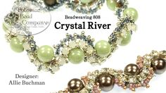 """This video from The Potomac Bead Company teaches you how to make our """"Crystal River"""" bracelet design, created by co-founder Allie Buchman. Our Website: http:..."""
