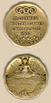 1932 Lake Placid, New York USA Winter Olympics medal - this is what the medal would have looked like that Sonja Henie won in 1932 Youth Olympic Games, Winter Olympic Games, Olympic Gymnastics, Olympic Sports, Winter Games, Volleyball Posters, Sports Posters, Lake Placid Olympics, Trophies And Medals