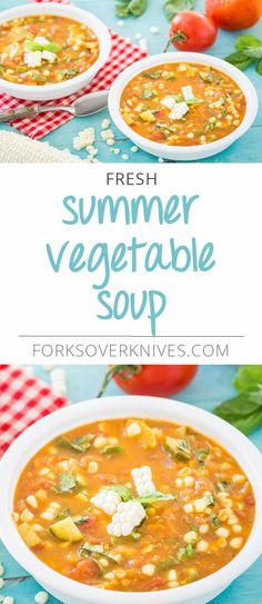 During the summer months, all of the vegetables in this soup can (and should!) be found fresh. Tomatoes, squash, and corn will be at their peak, and their fresh flavors will really shine through in this dish. From Forks Over Knives—The... Read more