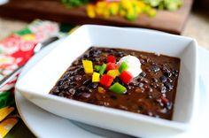 OMG @PioneerWoman black bean soup recipe! LOVE her lazy girl way to soak the beans! #SpaWorthy #vittles