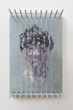 Three-Dimensional Portraits of Suspended Paint Strokes by Chris Dorosz (Colossal) 3d Portrait, Portraits, Acrylic Rod, Fabric Balls, Paint Drop, Paint Strokes, Brush Strokes, Colossal Art, Magic Box