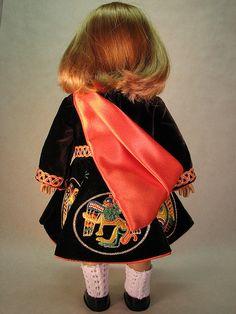 American Girl Doll  Irish Dance Dress reproduction/ dressmaker: Colleen Murphy, digitizing: Taoknitter Arts