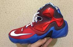 Nike LeBron 13 GS Red/White-Blue