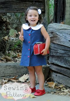 INSTANT DOWNLOAD- Madeline Dress (Size 12/18 to Size 8) PDF Sewing Pattern and Tutorial on Etsy, $7.45